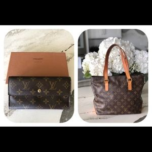 Louis Vuitton wallet and tote